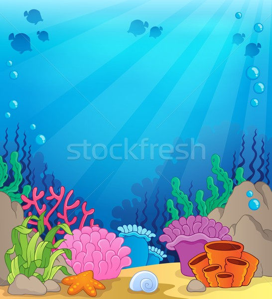 Ocean underwater theme background 4 Stock photo © clairev
