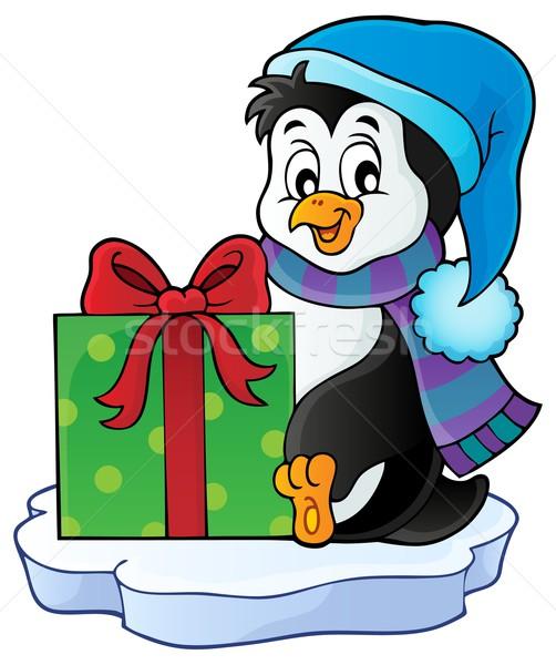 Рождества пингвин тема изображение дизайна льда Сток-фото © clairev