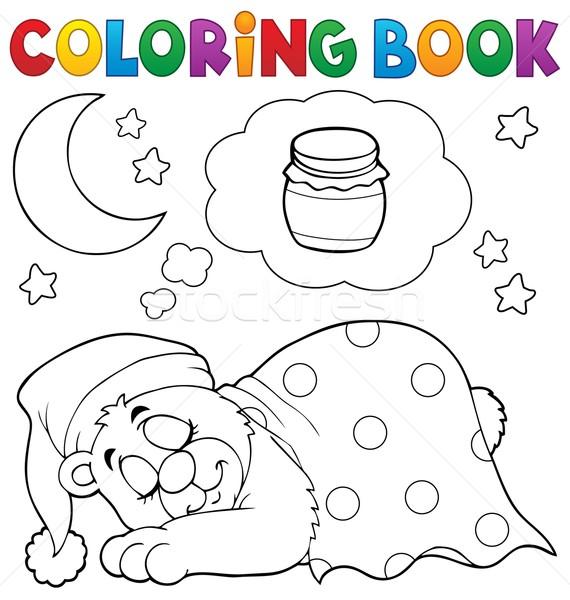 Boyama kitab uyku ay kitap boya ay vekt r - Orsi polari pagine da colorare ...
