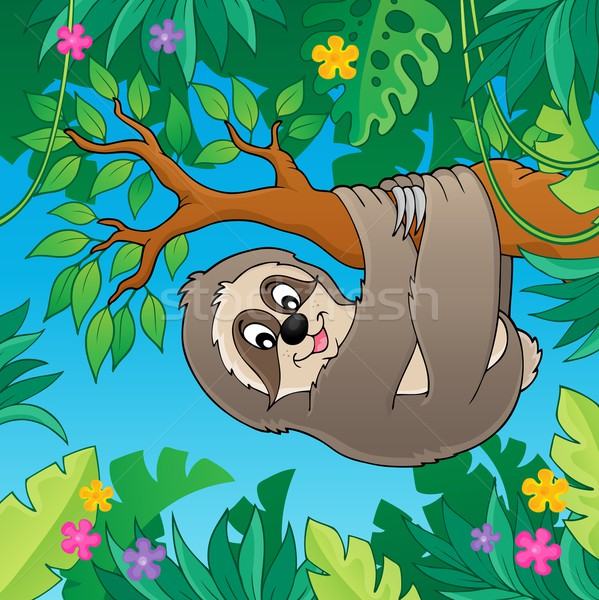 Sloth on branch theme image 2 Stock photo © clairev