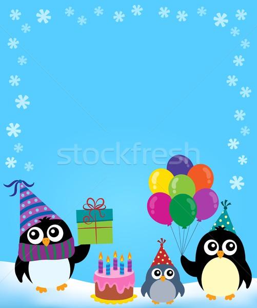 Party penguin theme image 3 Stock photo © clairev