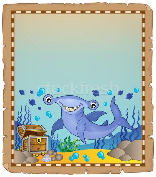 Perkament haai oog ogen zee steen Stockfoto © clairev