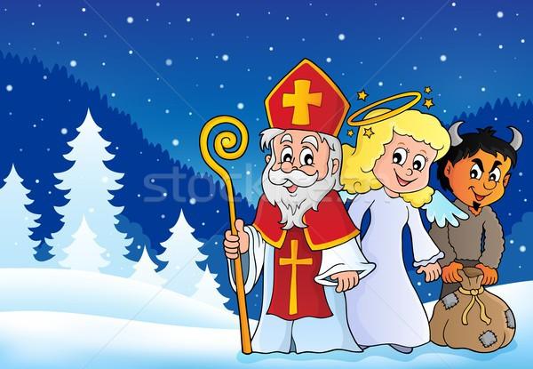 Saint Nicholas Day theme 4 Stock photo © clairev
