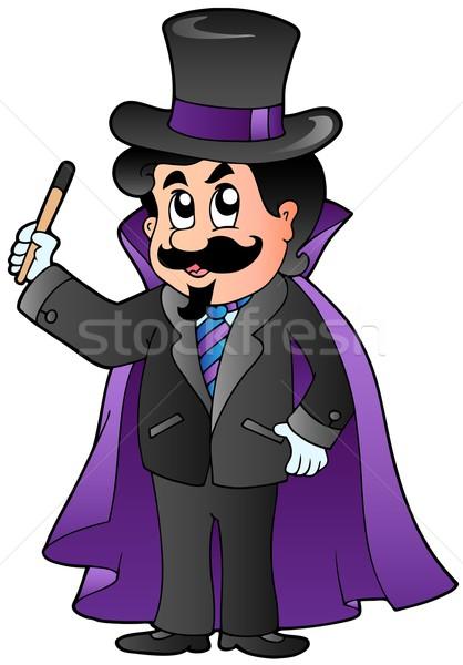 Cartoon magician Stock photo © clairev