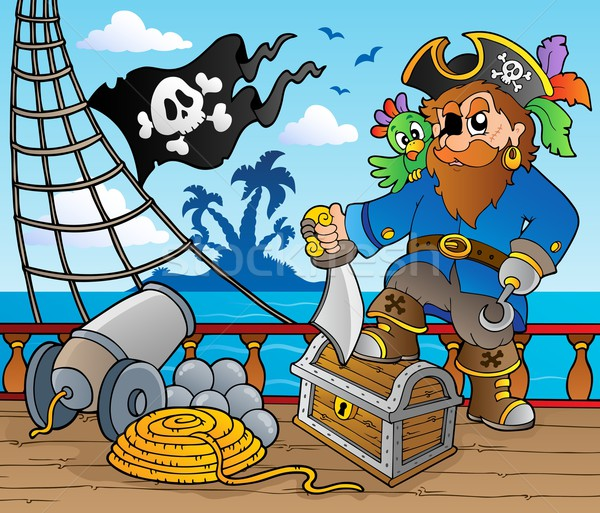 Pirate ship deck theme 2 Stock photo © clairev