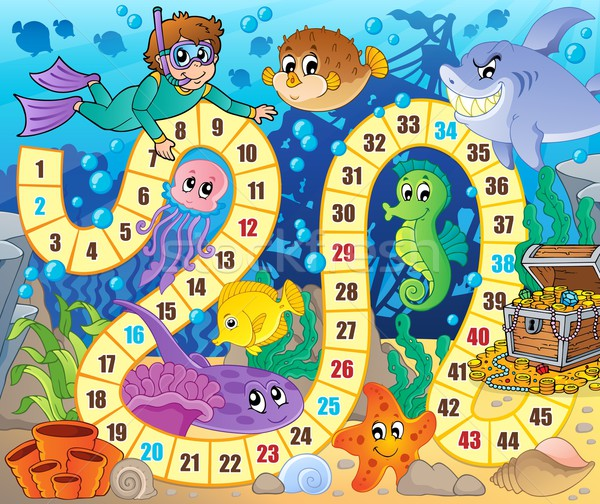 Board game image with underwater theme 2 Stock photo © clairev