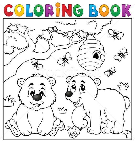 Boyama Kitabi Ayi Kitap Boya Sanat Yaz Vektor