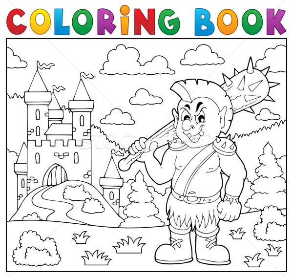 Coloring book orc theme 2 Stock photo © clairev