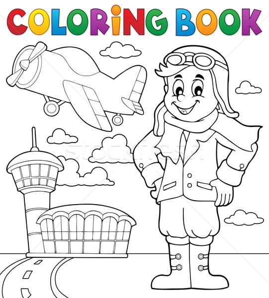 Libro da colorare aviazione sorriso libro costruzione vernice Foto d'archivio © clairev