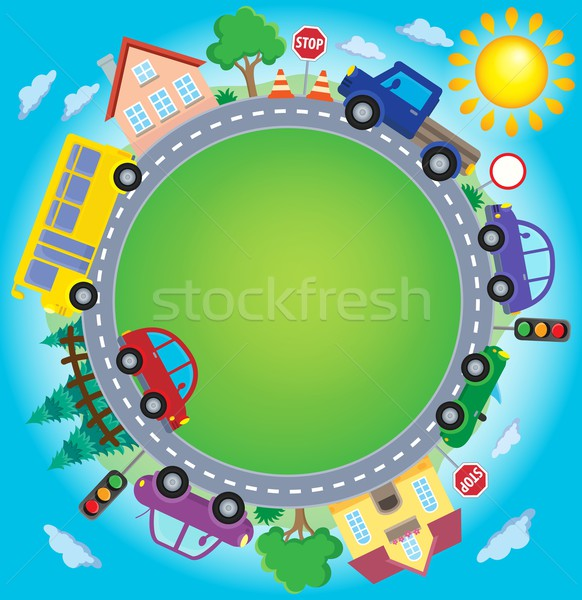 Circle with cars theme image 2 Stock photo © clairev