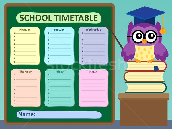 Weekly school timetable subject 2 Stock photo © clairev