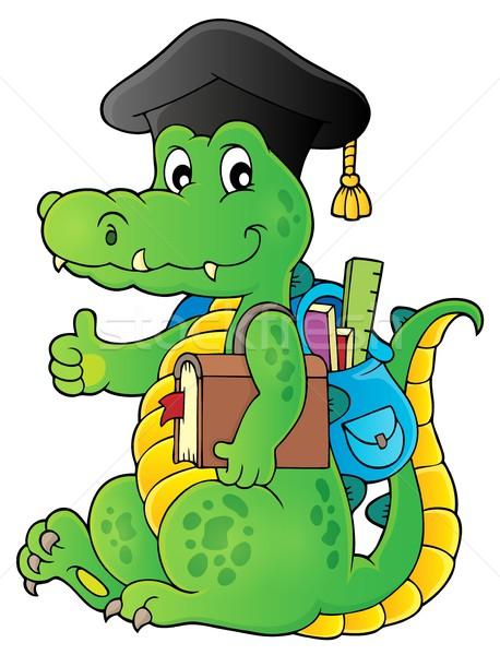 Escolas crocodilo imagem feliz arte aprendizagem Foto stock © clairev
