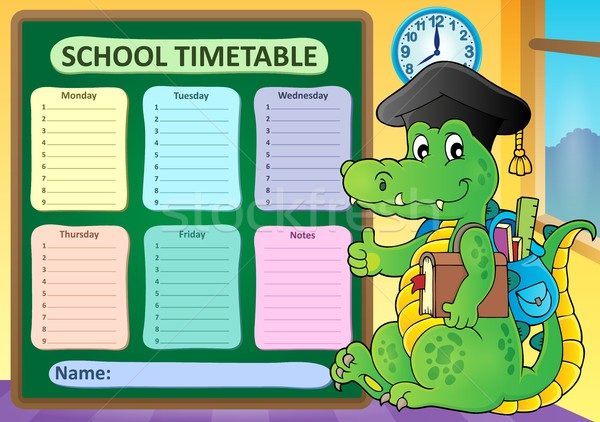 Weekly school timetable subject 8 Stock photo © clairev