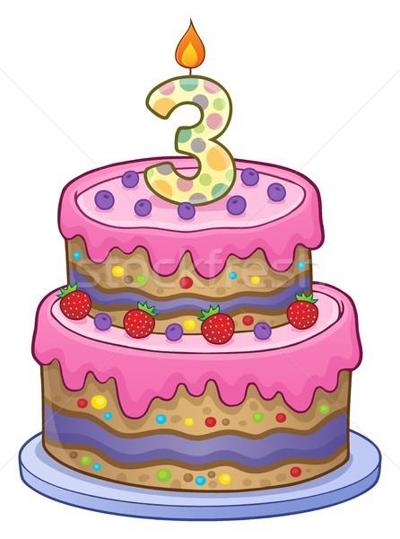 именинный торт изображение лет старые дизайна рождения Сток-фото © clairev