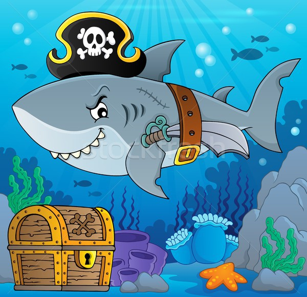 Pirate shark topic image 5 Stock photo © clairev