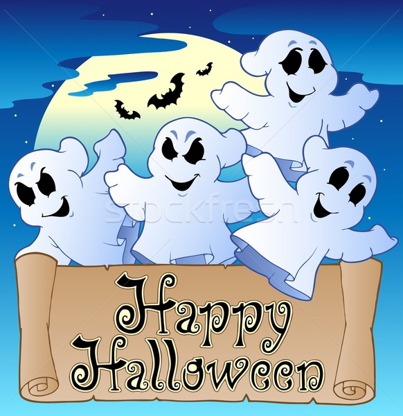 Theme with Happy Halloween banner 2 Stock photo © clairev