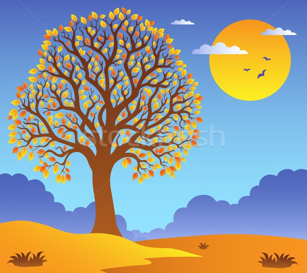 Scenery with leafy tree 2 Stock photo © clairev