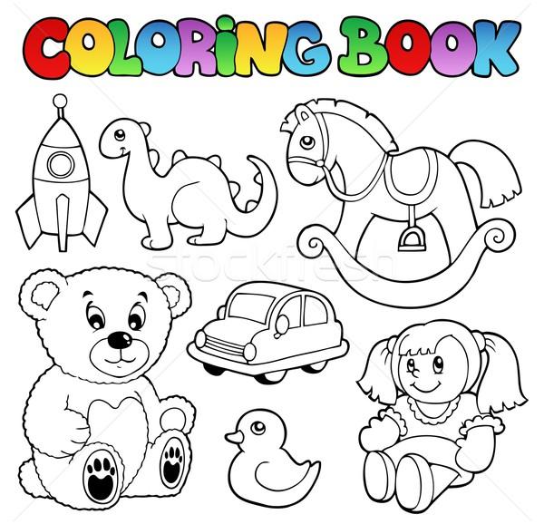 Boyama Kitabi Oyuncaklar Araba Kitap Dizayn Boya