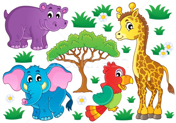 Cute African animals collection 1 Stock photo © clairev