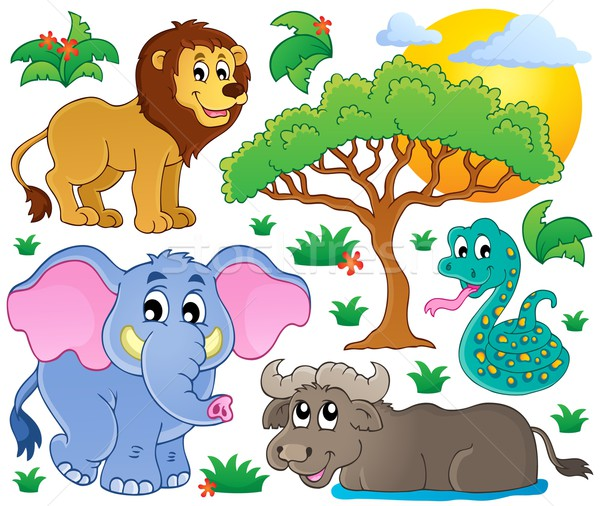 Cute African animals collection 2 Stock photo © clairev