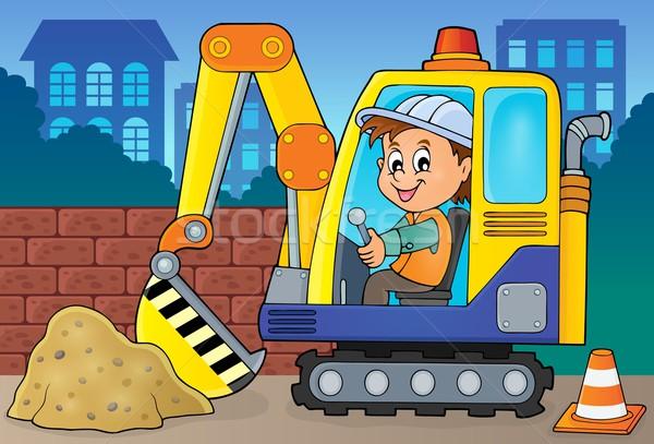 Excavator operator theme image 2 Stock photo © clairev