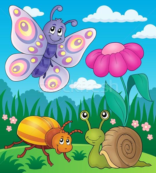 весны животные насекомое изображение цветок природы Сток-фото © clairev