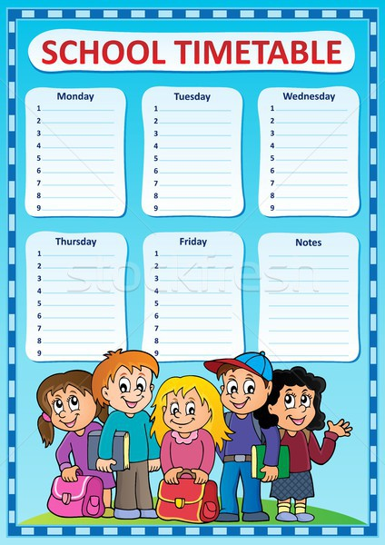 School timetable Photos Images and Vectors – School Time Table Designs