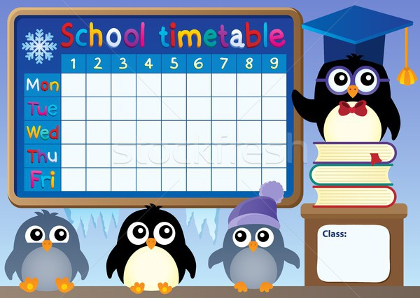 школы расписание книгах учитель время птиц Сток-фото © clairev