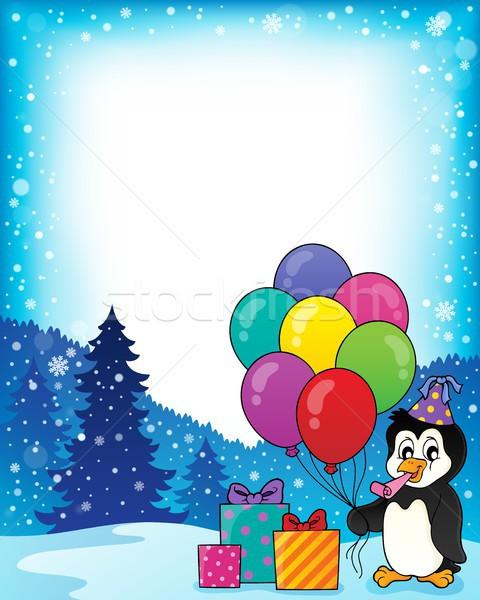 フレーム パーティ ペンギン トピック 芸術 鳥 ストックフォト © clairev
