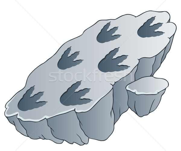 Rock with dinosaur footprints Stock photo © clairev