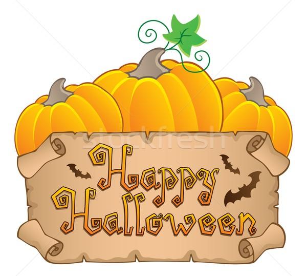 Boldog halloween téma kép terv levél Stock fotó © clairev
