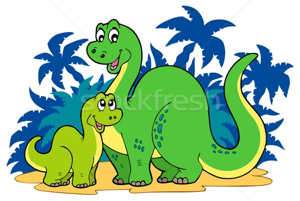 Cartoon dinosaur family Stock photo © clairev