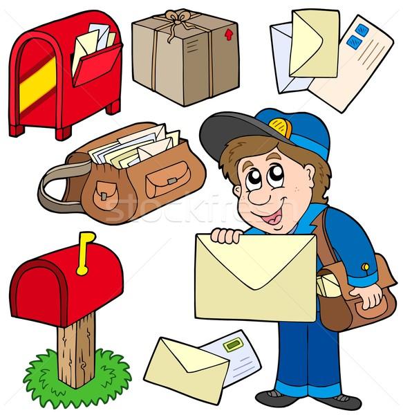 Mail kolekcja biały papieru pracy sztuki Zdjęcia stock © clairev