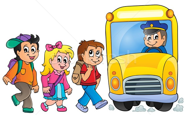 Image with school bus topic 1 Stock photo © clairev