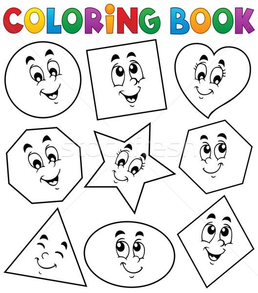 Coloring book various shapes 1 vector illustration © Klara Viskova ...