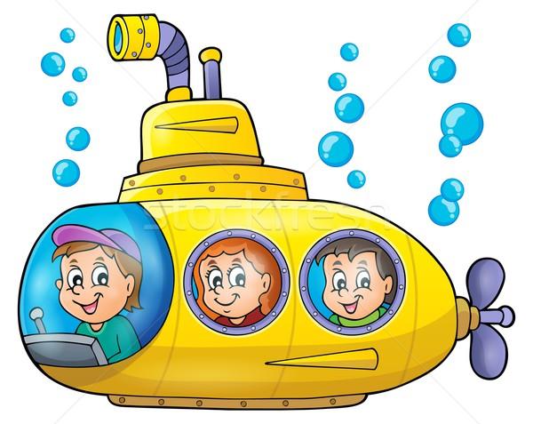 подводная лодка изображение лице счастливым ребенка искусства Сток-фото © clairev