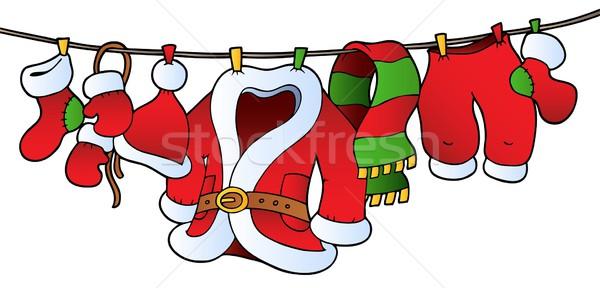 Karácsony jelmez ruhaszárító divat művészet tél Stock fotó © clairev
