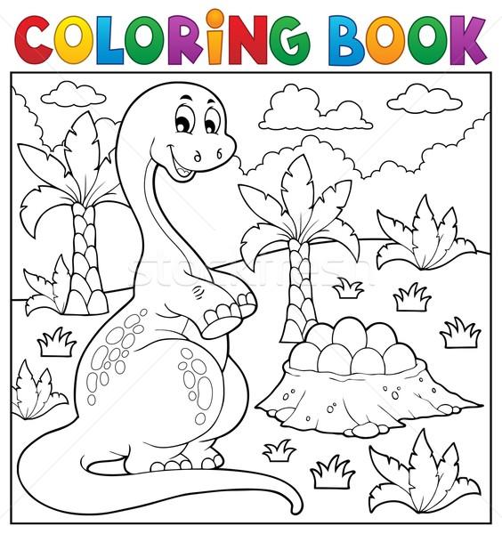 Coloring book dinosaur topic 8 Stock photo © clairev