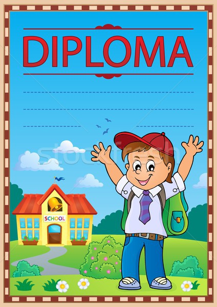 Diploma template image 6 Stock photo © clairev