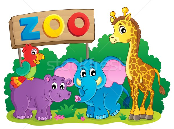 Cute African animals theme image 6 Stock photo © clairev