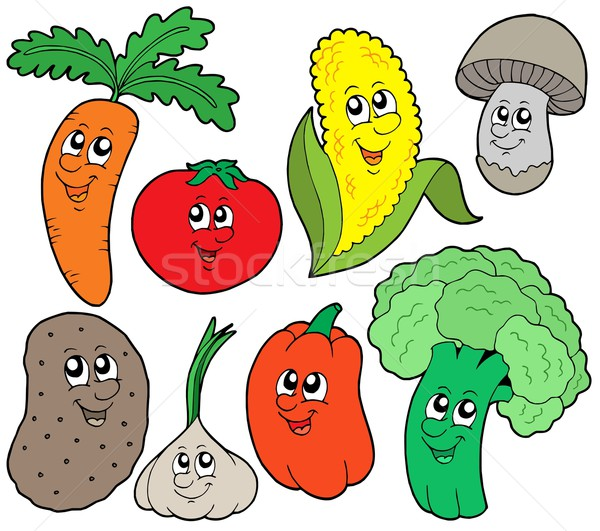 Cartoon vegetable collection 1 Stock photo © clairev