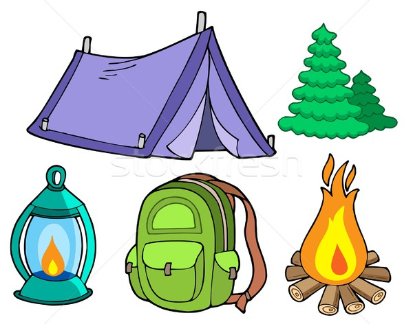 Collection of camping images Stock photo © clairev