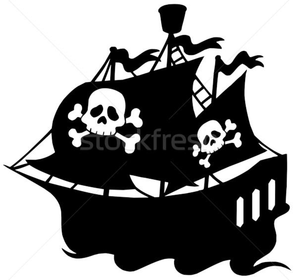 Pirate ship silhouette Stock photo © clairev