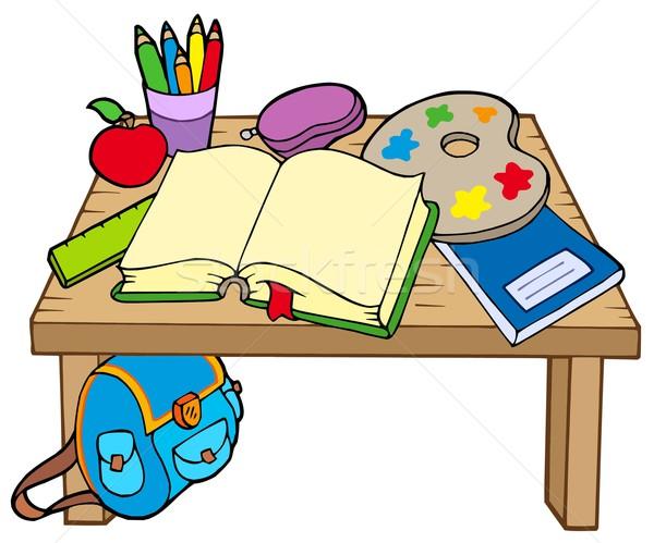 School table 2 Stock photo © clairev