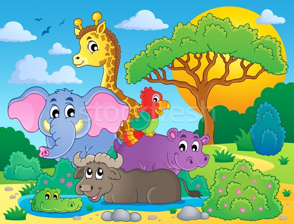 Cute African animals theme image 8 Stock photo © clairev