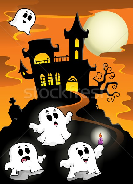Haunted mansion with ghosts 2 Stock photo © clairev