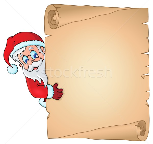Christmas topic parchment 2 Stock photo © clairev