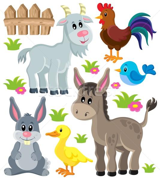 сельскохозяйственных животных набор искусства лет птица Bunny Сток-фото © clairev