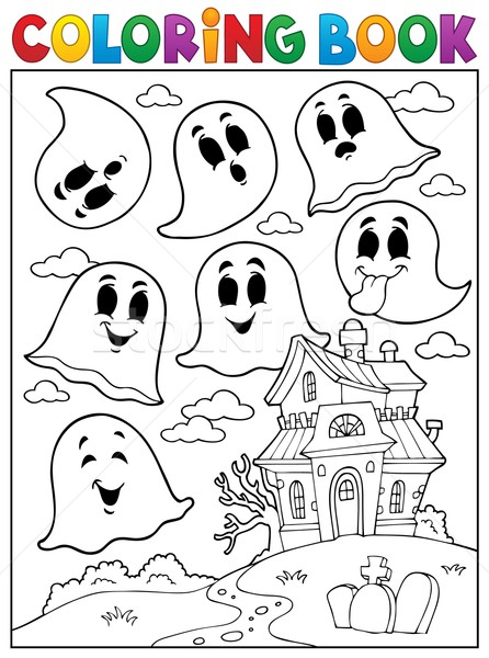 Coloring book ghost theme 4 Stock photo © clairev