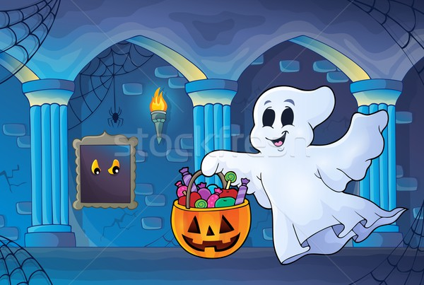 Halloween ghost in haunted castle Stock photo © clairev